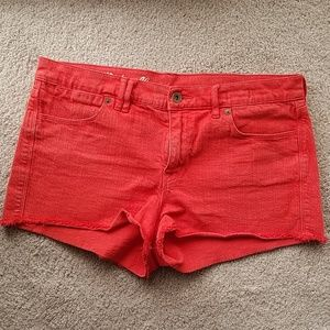 Madewell shorts in scarborough red